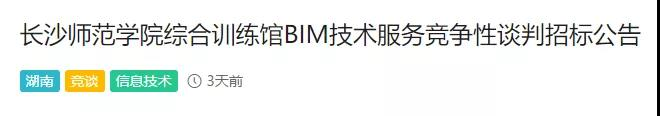 BIM技术咨询招标案例