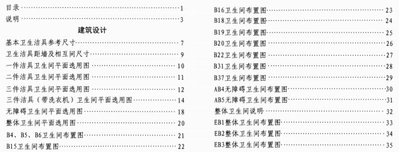14J914-2 住宅卫生间 目录