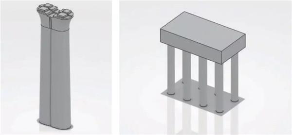 桥墩、基础参数化模型库