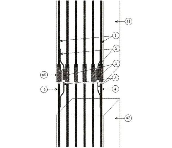 装配式建筑防雷引下线新型连接装置示意图