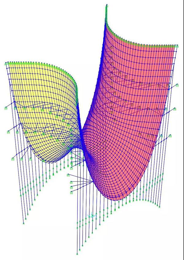 最终结构布置(ETABS模型)