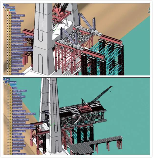 重庆侧边跨钢梁拼装与跨线顶推施工原始方案模拟