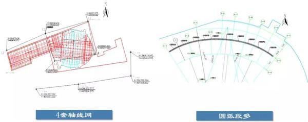 复杂轴线放线