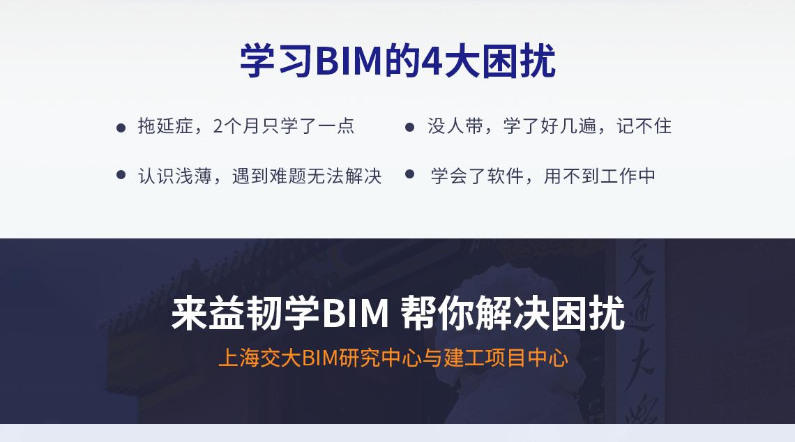 学习BIM四大困扰 拖延症,2个月只学了一点 没人带,学了好几遍,记不住 认识浅薄,遇到难题无法解决 学会了软件,用不到工作中  来益韧培训学BIM,帮你解决困扰
