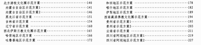 11S937-2 不同地域特色村镇住宅通用图集总目录